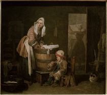 J.B.S.Chardin, Die Waescherin by AKG  Images