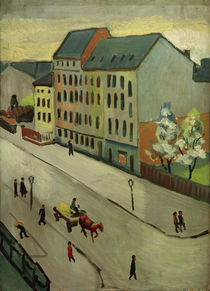 A.Macke, Unsere Strasse in Grau by AKG  Images