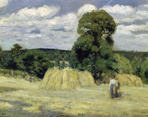 C.Pissarro, Getreideernte in Montfouc. von AKG  Images