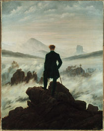 C.D.Friedrich, Wanderer ueber Nebelmeer by AKG  Images