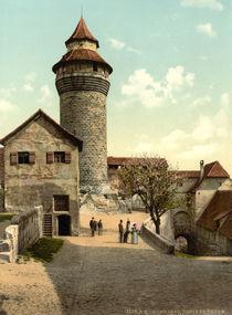 Nuernberg, Burg, Sinwellturm / Photochrom by AKG  Images
