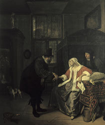 Jan Steen, Die Liebeskranke by AKG  Images