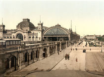 Dresden, Hauptbahnhof / Photochrom by AKG  Images