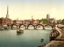 Worcester, Svern Bridge / Photochrom by AKG  Images
