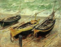 Claude Monet, Drei Fischerboote von AKG  Images