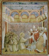 Giotto, Bestaetigung der Ordensregel by AKG  Images