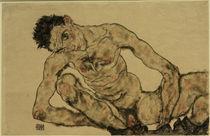 Egon Schiele, Selbstbildnis als Akt by AKG  Images