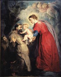 P.P.Rubens, Hl.Franziskus empf.Jesuskind by AKG  Images