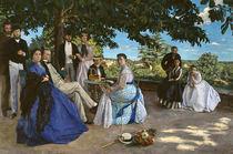 Frederic Bazille, Reunion de famille1867 von AKG  Images