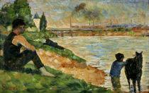 G.Seurat, Studie zu Badeplatz by AKG  Images