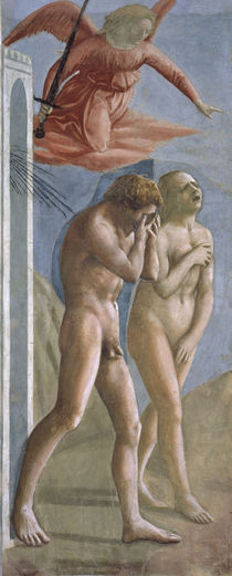 Masaccio, Vertreibung aus dem Paradies by AKG  Images