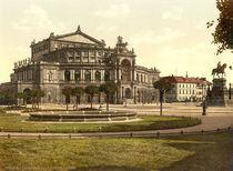 Dresden,Gesamtansicht Koenigl.Hoftheater by AKG  Images
