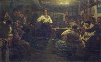 Ilja Repin, Gemuetlicher Dorfabend von AKG  Images