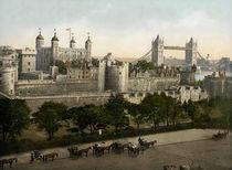 London, Tower u. Tower Bridge / um 1900 by AKG  Images