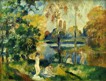 A.Renoir, Landschaft mit Badenden von AKG  Images