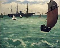 E.Manet, U.S.S. Kearsarge vor Boulogne von AKG  Images