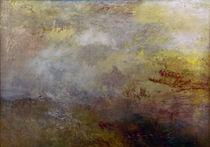 W.Turner, Stuermische See mit Delphinen von AKG  Images