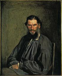 Leo Tolstoj / Gemaelde 1873 von Kramskoj von AKG  Images