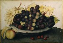 G.Garzoni, Schale mit Weintrauben von AKG  Images