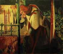 D.G.Rossetti, Sir Galahad an der Kapelle by AKG  Images