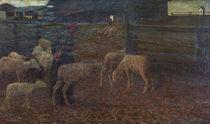 G.Segantini, Rueckkehr zum Schafstall von AKG  Images