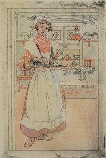 C.Larsson, Martina mit Fruehstueckstablett by AKG  Images