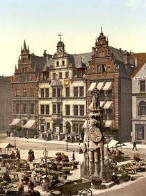 Bremen, Marktplatz mit Roland / um 1900 von AKG  Images