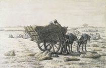 J.F.Millet, Getreideernte von AKG  Images