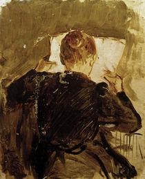 A.Macke, Zeitung lesende Frau, 1906 von AKG  Images