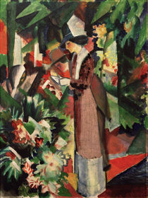 A.Macke, Spaziergang in Blumen by AKG  Images