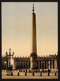 Rom, Petersplatz, Obelisk / Photochrom von AKG  Images