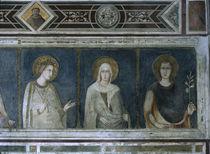 Simone Martini, Hl.Elisabeth, Klara u.a. by AKG  Images