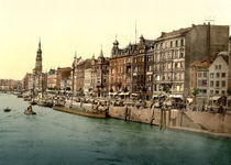 Hamburg, Dovenfleet / Photochrom von AKG  Images