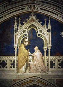 Simone Martini, Kardinal huldigt Martin by AKG  Images