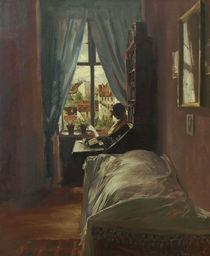 A.v.Menzel, Schlafzimmer des Kuenstlers von AKG  Images