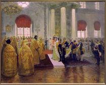 Hochzeit Nikolaus II./ Gem von Repin von AKG  Images