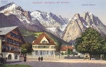 Garmisch, Marktplatz / Postkarte von AKG  Images