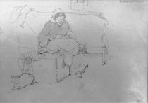 L.Knaus, Grossmutter beim Gaenserupfen by AKG  Images