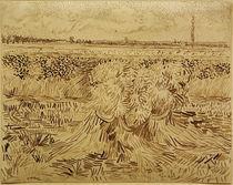 V.v.Gogh, Weizenfeld mit Kornbuendel von AKG  Images
