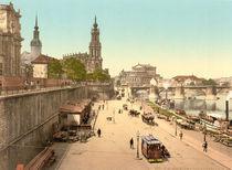 Dresden, Bruehlsche Terrasse / Photochrom von AKG  Images