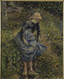 C.Pissarro, Jeune Fille a la Baguette/18 by AKG  Images