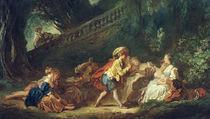 J.H.Fragonard, Spiel im Park von AKG  Images