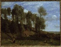 C.Corot, Landschaft bei Etretat von AKG  Images
