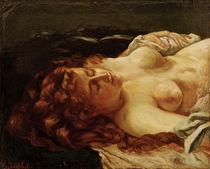 G.Courbet, Schlafende rothaarige Frau von AKG  Images