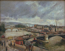 C.Pissarro, Grosse Bruecke, Rouen, Regen by AKG  Images