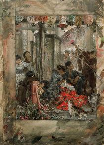 Menzel, Japanische Naeherin / 1887 von AKG  Images