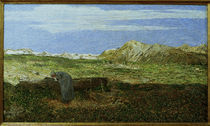 Segantini/ Alpenlandschaft mit Frau/1893 von AKG  Images