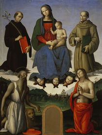 P.Perugino, Maria mit Kind u.Heiligen by AKG  Images