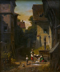 C.Spitzweg, Am Stadtbrunnen by AKG  Images
