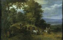 Jan Bruegel d.Ae./ Belebter Fahrweg/1610 by AKG  Images
